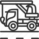 build, construction, crane, crane truck, crane vehicle, vehicle icon icon