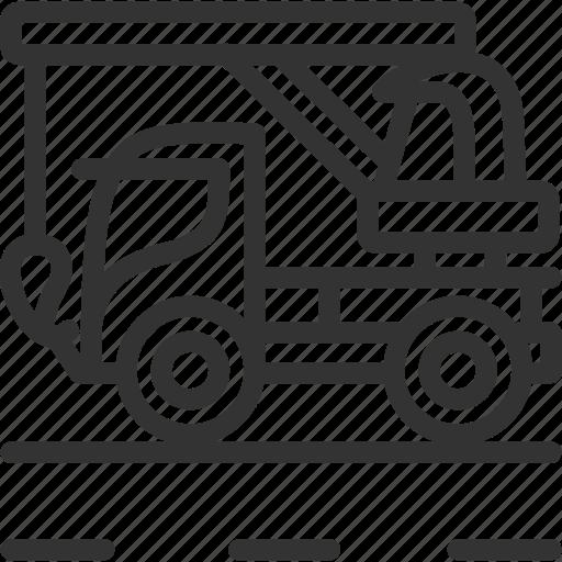 build, construction, crane, crane truck, crane vehicle, vehicle icon icon
