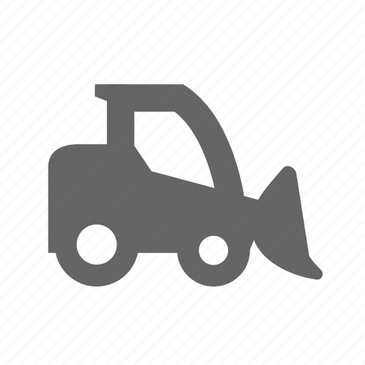 construction, digger, machinery, shovel, tractor, transportation, vehicle icon