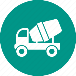 building, cement mixer, concrete, construction, machine, transport, truck icon