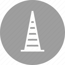 barrier, caution, construction cone, road, safety, traffic cone icon