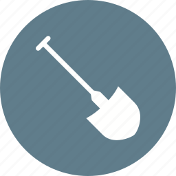construction, digging tool, equipment, shovel, spade, work, worker icon