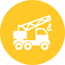 construction, crane, equipment, heavy machine, hook, lifter, truck icon