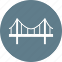 architecture, bridge, construction, design, overhead, road, structure icon