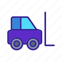 delivery, forklift, transport, truck, vehicle icon