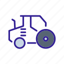 construction, equipment, motor, technology, tractor icon