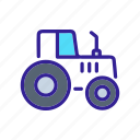construction, motor, technology, tractor, vehicle icon