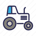agricultural, agrimotor, farm, tractor, transport icon