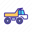 cargo, construction, transport, truck, vehicle icon