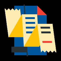account, bill, cheque, paper, statements icon
