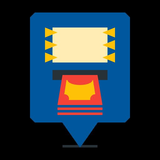 atm, autoteller, location, machine, pin icon