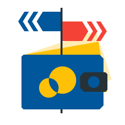 bank, cash, money, payment, transfer icon