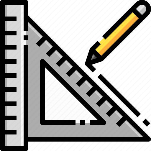 Construction, pencil, rule, ruler, tool icon - Download on Iconfinder