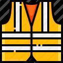 construction, lifejacket, lifesaver, security, vest icon