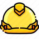 construction, hard, hat, protection, security, working icon
