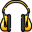 audio, construction, earphones, electronics, headphones, sound, technology icon
