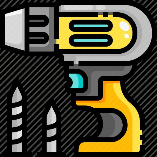 drill, driller, drilling, equipment, maintenance, repair, reparation icon