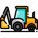 construction, drill, drilling, machine, transport, transportation, vehicle icon