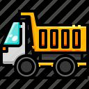 garbage, garbagetrash, recycling, transportation, trash, truck, vehicle icon