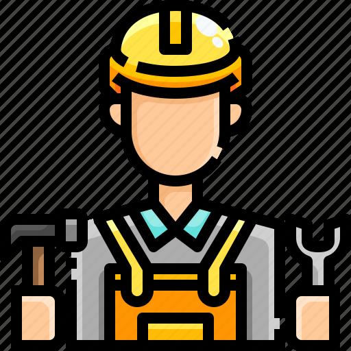 avatar, engineer, job, occupation, people, profession, worker icon