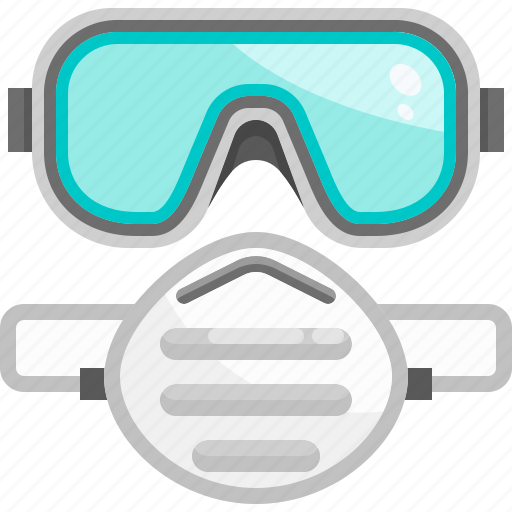 Construction, equipment, facemask, goggles, protection, safety, security icon - Download on Iconfinder