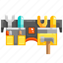 belt, construction, kit, tools icon