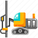 construction, drilling, machine, surface, transport, transportation, vehicle icon