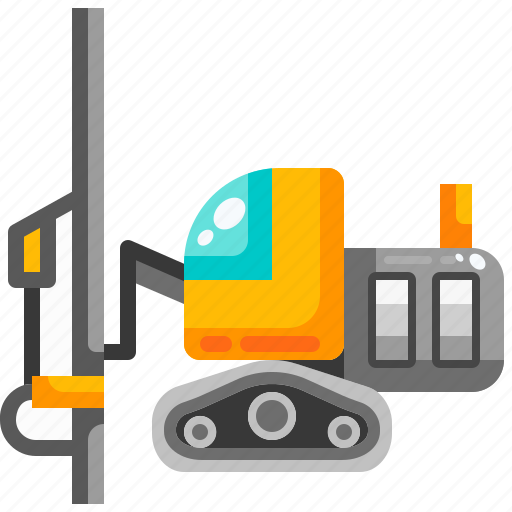 Construction, drilling, machine, surface, transport, transportation, vehicle icon - Download on Iconfinder