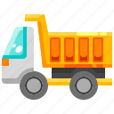 garbage, garbagetrash, recycling, transportation, trash, truck, vehicle icon
