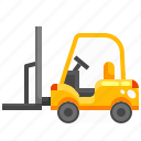 fork, forklift, industry, lift, transport, truck, vehicle icon
