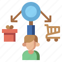 analysis, behavior, business, consumer, demand, finance, payment icon