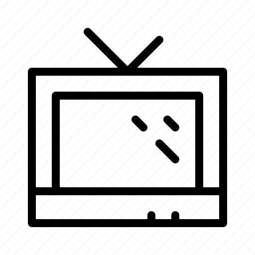 devices, electronics, products, technology, television, workstation icon