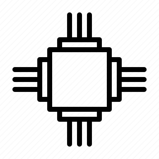 chip, devices, electric, electronic, equipment, hardware icon