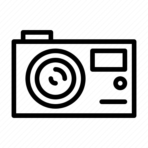 camera, compact, devices, electric, electronic, equipment, hardware icon