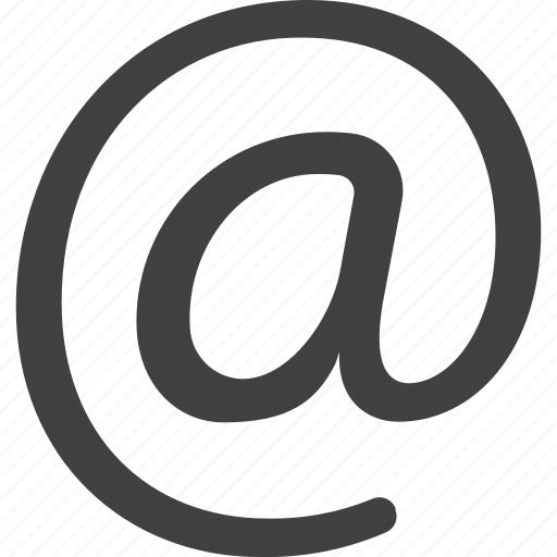 at, email, mail icon