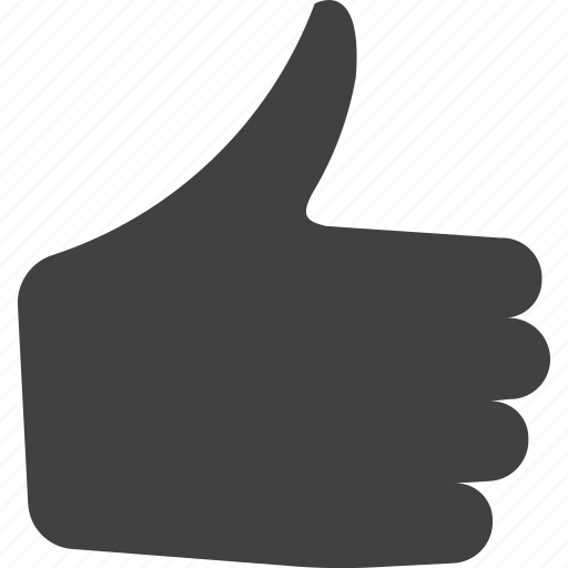 gesture, hand, thumbs, up icon