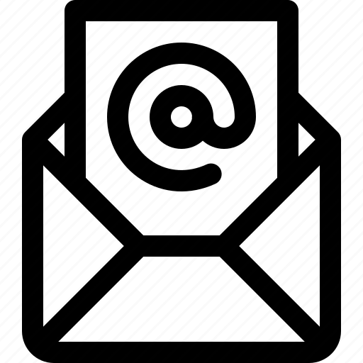 envelope, inbox, letter, mail, message, post icon