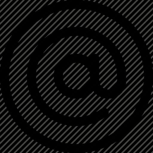 arroba, at, at symbol, email, message, talk icon