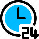 clock, customer, service, support, time icon