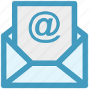 sheet, message, at, letter, email icon