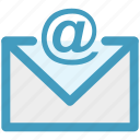 envelope, message, at, letter, email icon