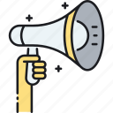 advertising, bullhorn, campaign, loudspeaker, marketing icon