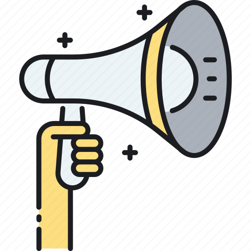advertising, bullhorn, campaign, loudspeaker, marketing icon