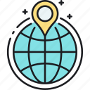 global, globe, location, worldwide icon