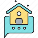 home, home message, message icon