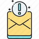 important, important mail, letter, mail icon