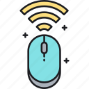 mouse, wifi mouse, wireless mouse icon