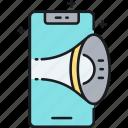 advertising, phone, phone advertising icon