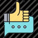 feedback, media, review, social, social media, testimonial, thumbs up icon