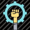 fight, pride, protest, support icon